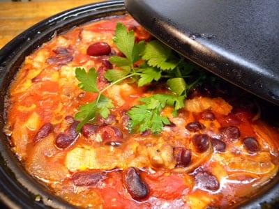 豚肉と豆の旨みたっぷりのタジン鍋