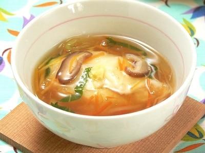 風邪気味の日に、とろとろ大根豆腐の野菜あん