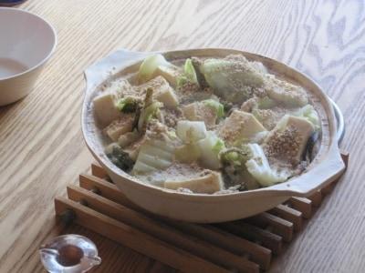 白い白菜鍋