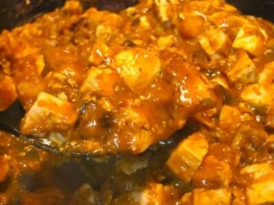 かぼちゃのマーボー豆腐風