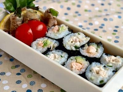 アスパラ豚巻きとサラダ細巻弁当