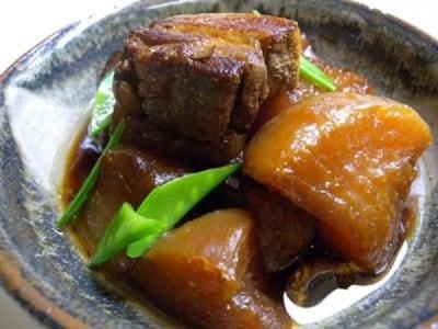 圧力鍋で豚バラ肉と大根の煮物