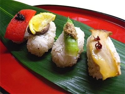 野菜を使ったシンプルお寿司