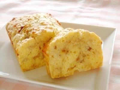 バナナブレッドのレシピ!発酵いらずで超簡単、米粉入りパンの作り方