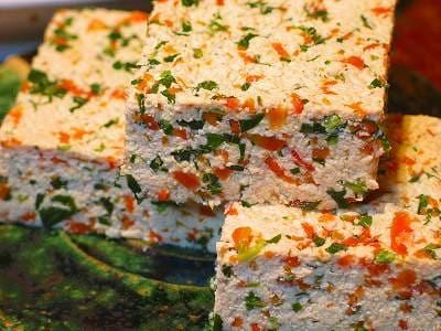 彩り楽しいご馳走豆腐 菜入り豆腐