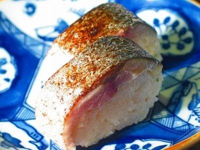 鯖寿司と炙り鯖寿司