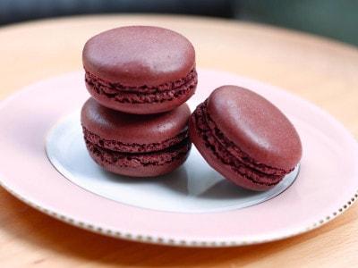 チョコレートマカロンのレシピ・作り方ー少量で簡単、失敗なし!