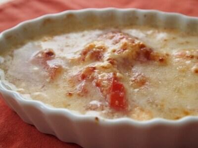 トマトスープの爽やかグラタン