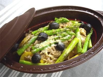 ツナと野菜のスチーム料理