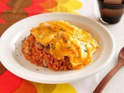 トマトジュースで簡単オムライス!美味しいご飯料理レシピ