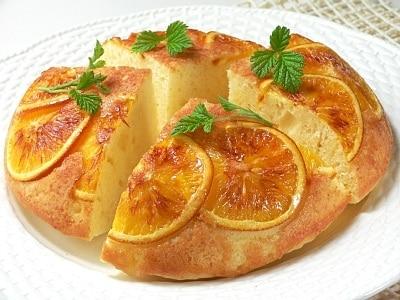 お釜で作る夏ケーキ オレンジヨーグルトケーキ