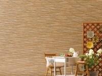石の素材感を際立たせたデザイン。繊細な色調の変化が自然な風合いを表現する特殊塗装を施すことで、豊かな表情を生み出す。[Danサイディングスチール深絞りシリーズスレンダラインSF]