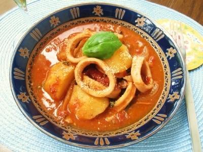 バジル香るイタリアン いかとじゃがいものトマト煮