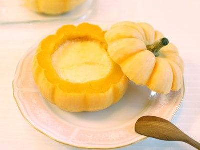 ミニかぼちゃで作る!スキムミルクのはちみつプリン