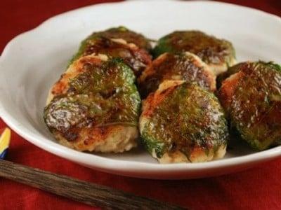 山椒風味、しいたけの肉詰め大葉巻きレシピ!