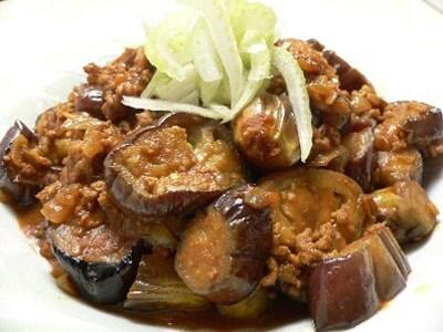 なすの挽肉カレー