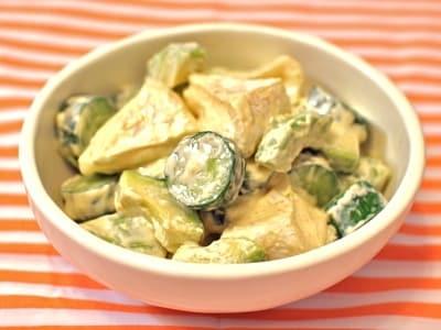 アボカドとチーズときゅうりのカリウム満点サラダ