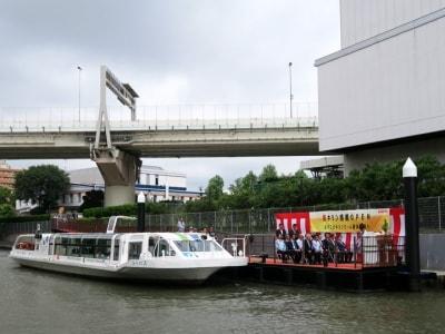 キリンビール横浜工場へ海からアクセスできる「キリン桟橋」が誕生。みなとみらい21地区などから約30分で到着可能になりました(2016年8月23日撮影)