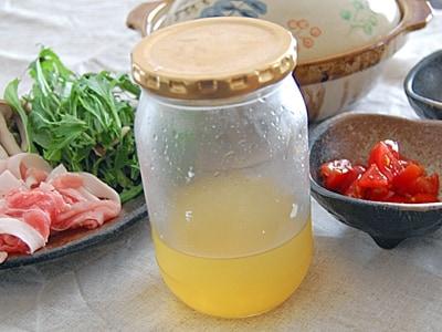 柚子とかぼすを贅沢に使った自家製塩ポン酢