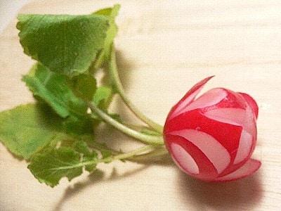 花切りラディッシュの作り方