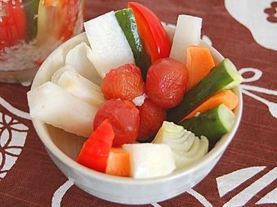 塩麹で作る和風ピクルス