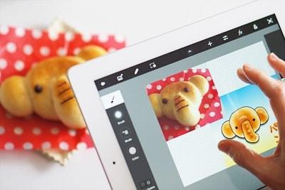 PhotoshopTouchではイラストを描き写真を撮影してそのままレイヤーに重ねることも