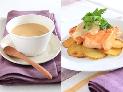 万能ヨーグルト味噌ソースのサーモン&ポテトソテー