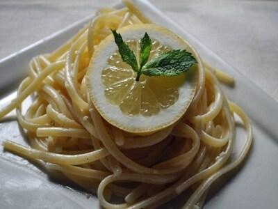 レモンクリームのリングイネ