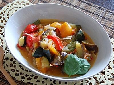 夏野菜たっぷり! 塩麹ラタトゥイユ
