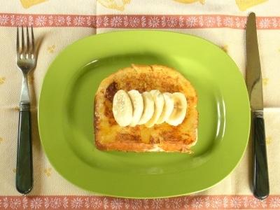 ホームベーカリーでつくる、ミルキーバナナ食パン