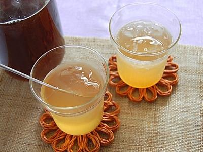 夏バテ予防にも!黒糖梅シロップで作る梅ジュース
