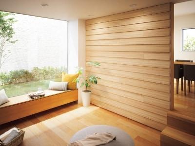木の風合いの壁