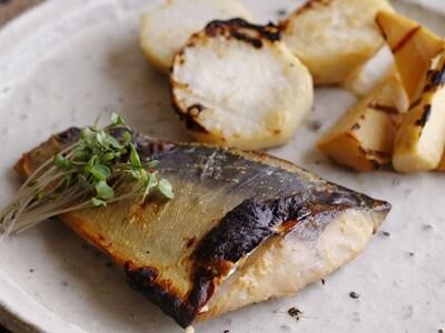 鯖の味噌ヨーグルト漬け焼き
