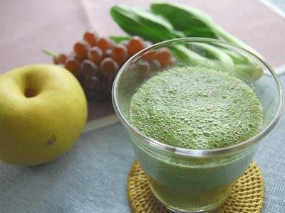 グリーンスムージー(青梗菜・なし・ぶどう)