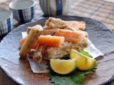 野菜おつまみで簡単家呑み! ごぼうとにんじんのから揚げレシピ