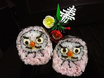 だるまのデコ巻き寿司