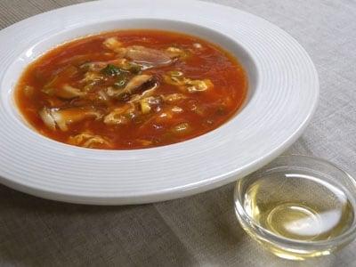トマトジュースでつくる簡単スープ