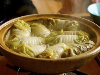 春巻き風ロール白菜鍋