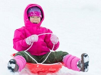 雪遊び広場へ出かけよう
