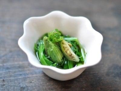 ふきのとうと春野菜のおひたし