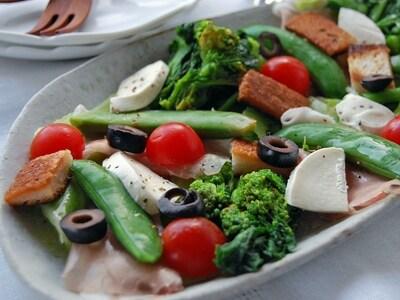 春野菜のゆで方をマスターして作るごちそうサラダ
