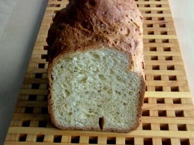 ホームベーカリーでハーブブリオッシュ食パン