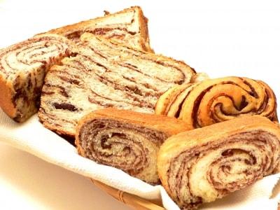 ホームベーカリーで作る、チョコレートマーブルパン