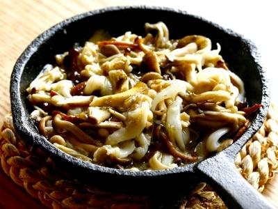 キノコと白魚の山椒オイル煮