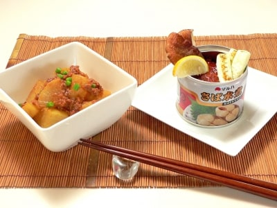 鯖缶で作る、鯖の味噌焼きと鯖大根