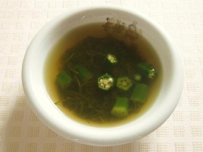 オクラとめかぶのスープ