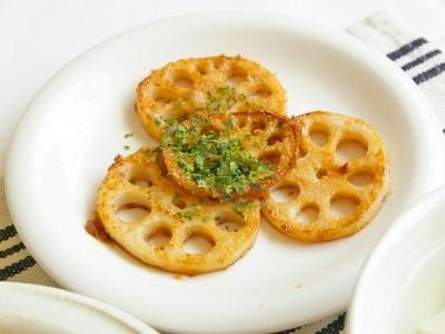 れんこん1つで簡単副菜。れんこんの味噌バター焼き