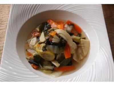 白菜とレモンのさわやかあんかけ豆腐