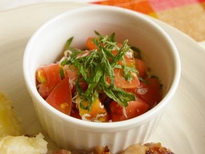 しらすとトマトのハニーマスタードサラダ