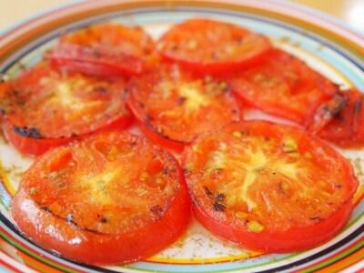トマトのステーキ クミン風味